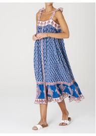 M.A.B.E Madi Maxi Cotton Dress - Indigo
