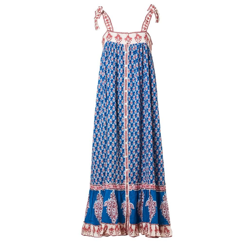 Madi Maxi Cotton Dress - Indigo