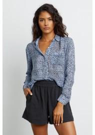 Rails Anna Shirt - Blue Lynx