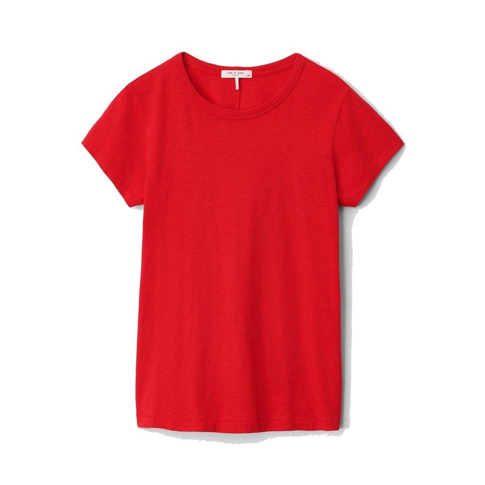 The Slub Pima Cotton Tee - Battle Red