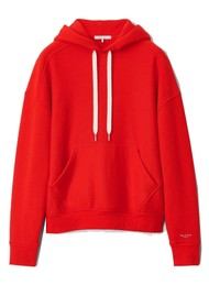 RAG & BONE City Terry Organic Cotton Hoodie - Battle Red