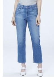 Paige Denim Noella High Rise Relaxed Straight Leg Jeans - Casanova