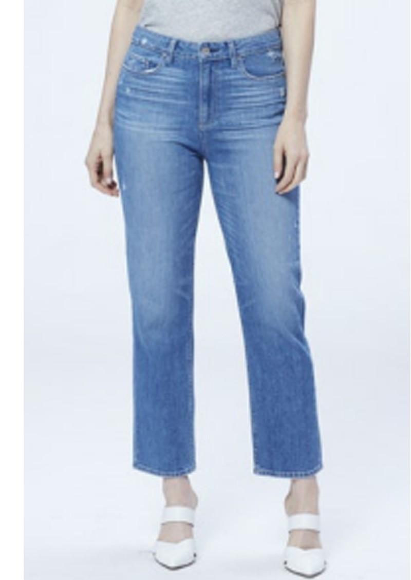 Paige Denim Noella High Rise Relaxed Straight Leg Jeans - Casanova main image