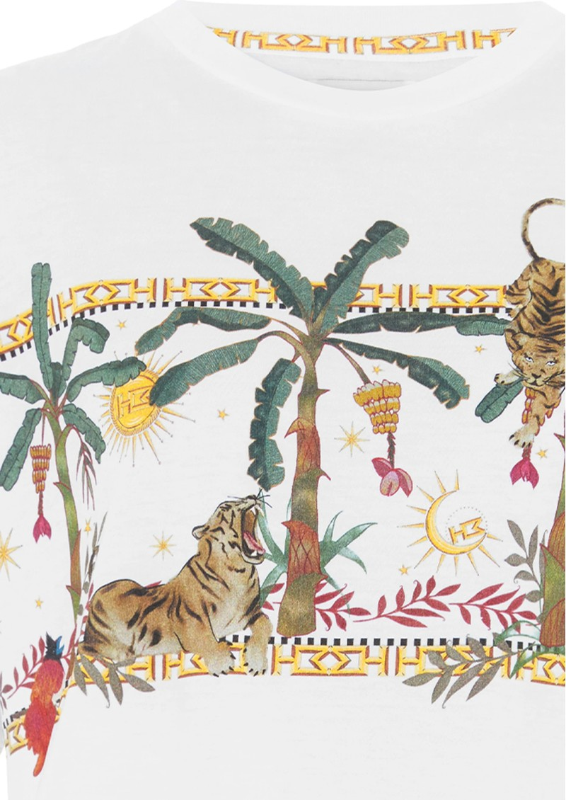 HAYLEY MENZIES Safari Pima Cotton T-Shirt - White main image
