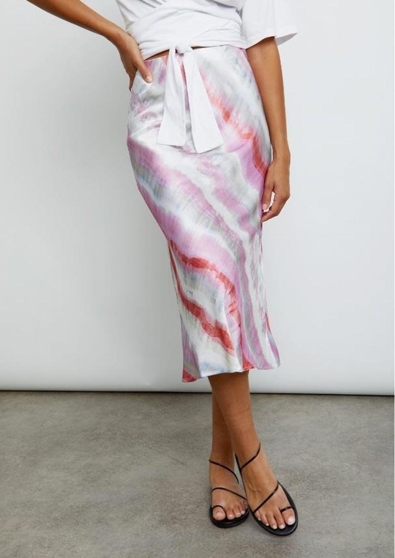 Rails Anya Midi Skirt - Coral Waves main image
