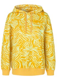 STINE GOYA Adrisa Organic Cotton Hoodie - Zebra Orange