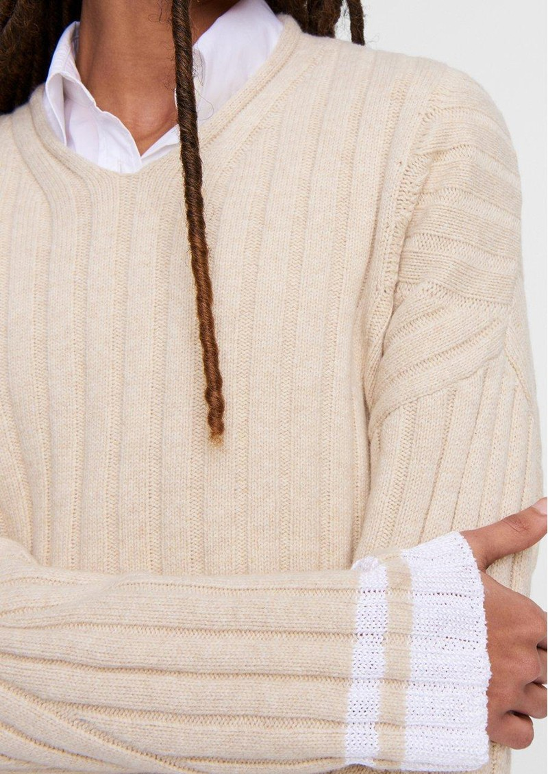 RAG & BONE Serene Merino Wool Blend Jumper - Bone main image