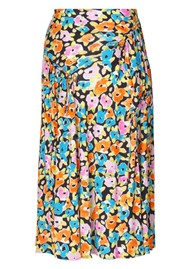 STINE GOYA Paloma Midi Skirt - Watercolour Flora
