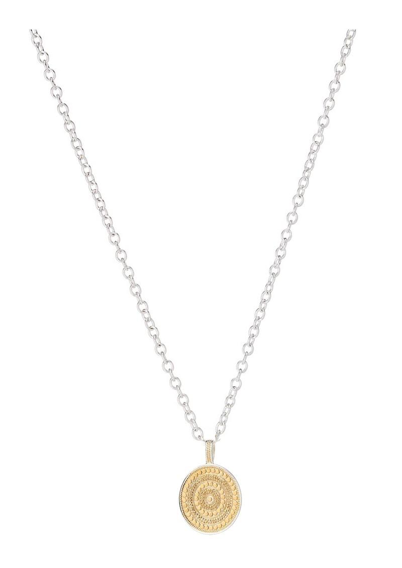 ANNA BECK Circle Pendant Necklace - Gold & Silver main image