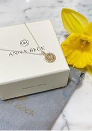 ANNA BECK Circle Pendant Necklace - Gold & Silver