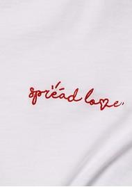 RAG & BONE Spread The Love Slogan T-Shirt -White