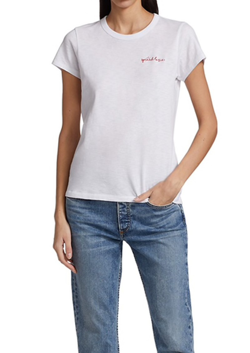 RAG & BONE Spread The Love Slogan T-Shirt -White main image