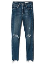 RAG & BONE Nina High Rise Ankle Skinny Raw Hem Jeans - Emory