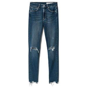 Nina High Rise Ankle Skinny Raw Hem Jeans - Emory