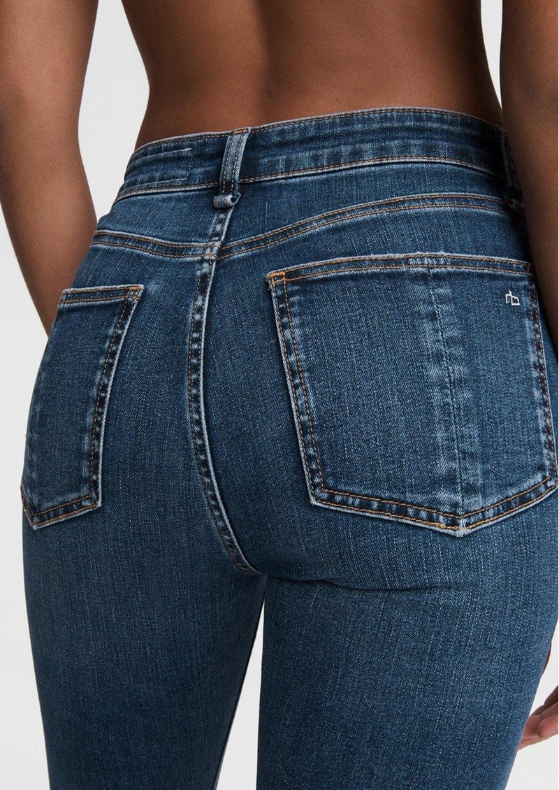 RAG & BONE Nina High Rise Ankle Skinny Raw Hem Jeans - Emory main image