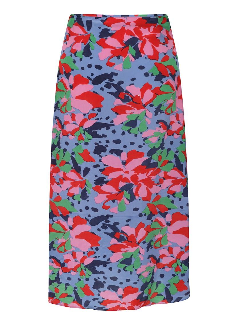 Mercy Delta Wray Silk Skirt - Hildene Sea main image