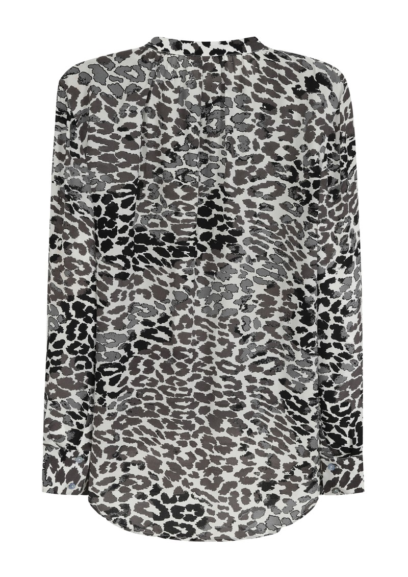 Mercy Delta Stowe Leopard Ombre Silk Blouse - Monochrome main image