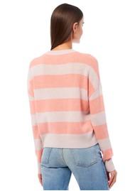 360 SWEATER Mindie Cashmere Sweater - Bisque & Nectarine
