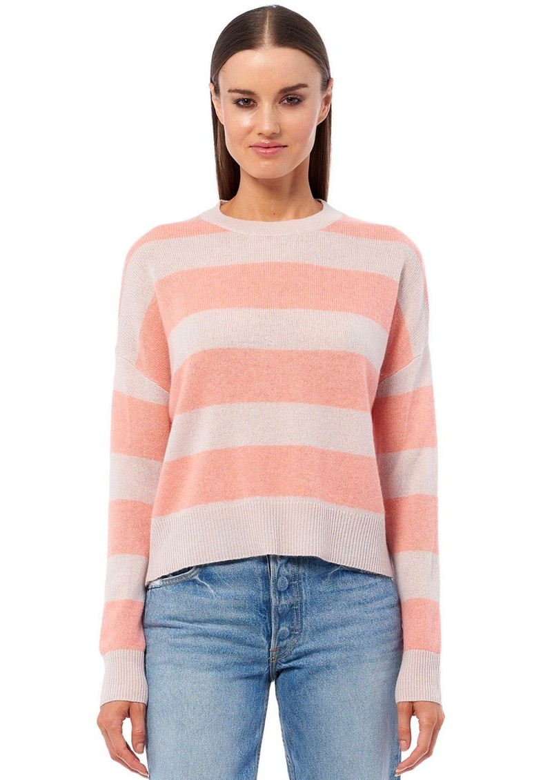 360 SWEATER Mindie Cashmere Sweater - Bisque & Nectarine main image
