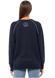 360 SWEATER Paz Sweater - Navy & Chalk
