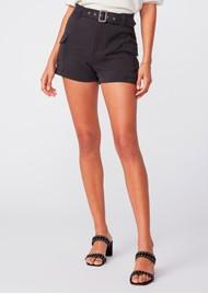 Paige Denim Carolina Belted Shorts - Black