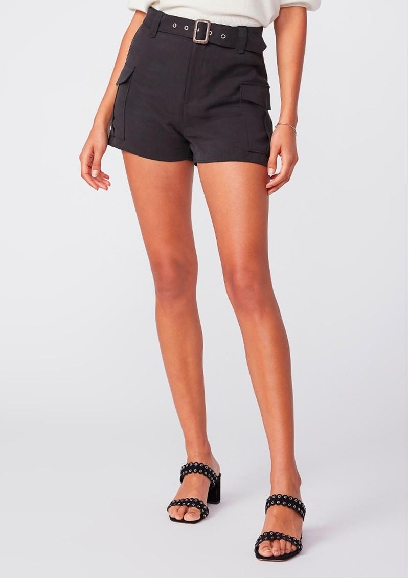 Paige Denim Carolina Belted Shorts - Black main image