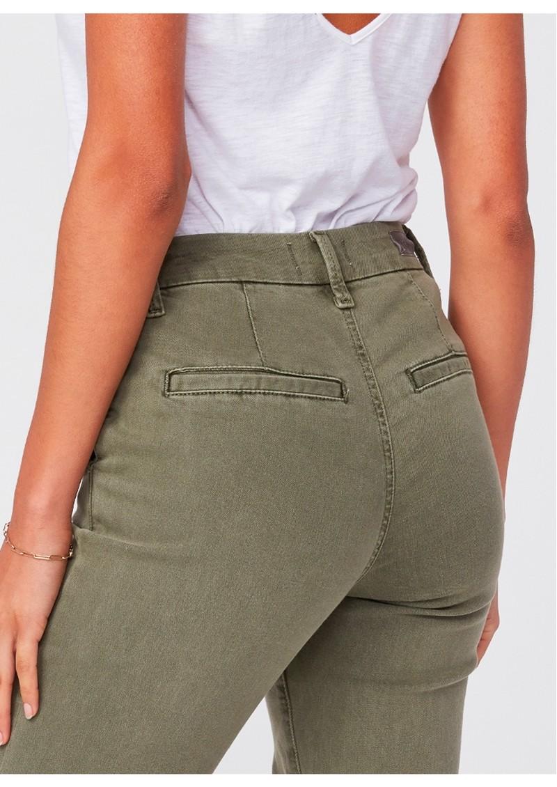 Paige Denim Romy Slim Trousers - Vintage Ivy Green main image