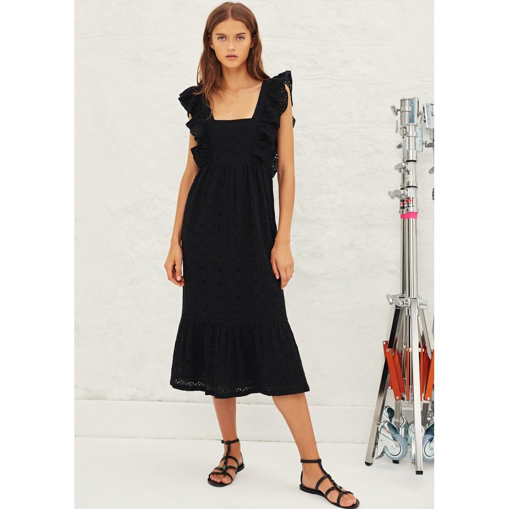 Byrd Lace Cotton Dress - Black