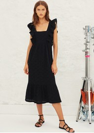 Ba&sh Byrd Lace Cotton Dress - Black