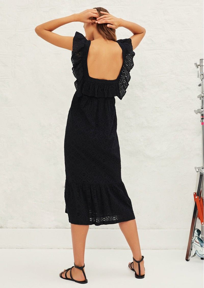 Ba&sh Byrd Lace Cotton Dress - Black main image