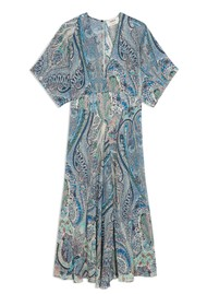 Ba&sh Bee Printed Maxi Dress - Blue