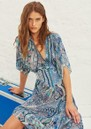 Bee Printed Maxi Dress - Blue additional image