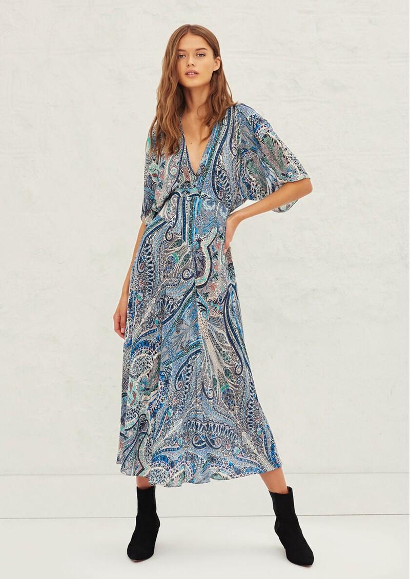 Ba&sh Bee Printed Maxi Dress - Blue main image