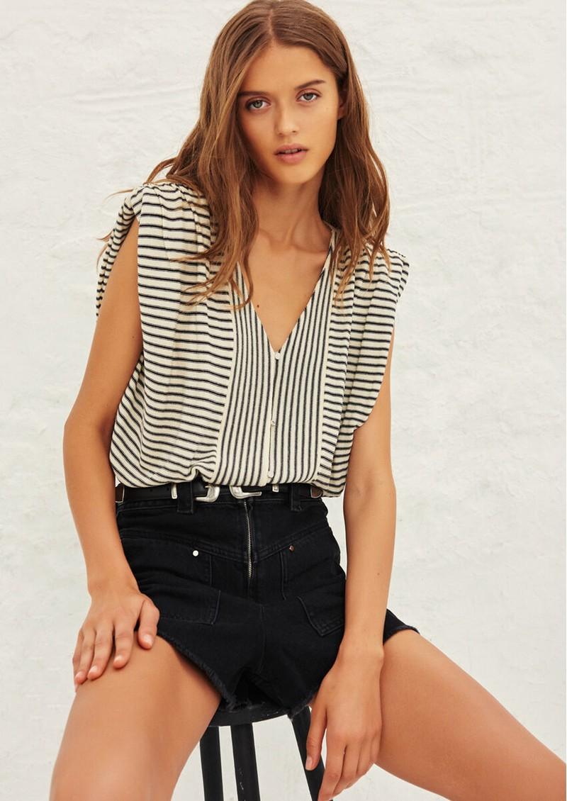 Ba&sh Lony Short Cardigan Top - Ecru main image