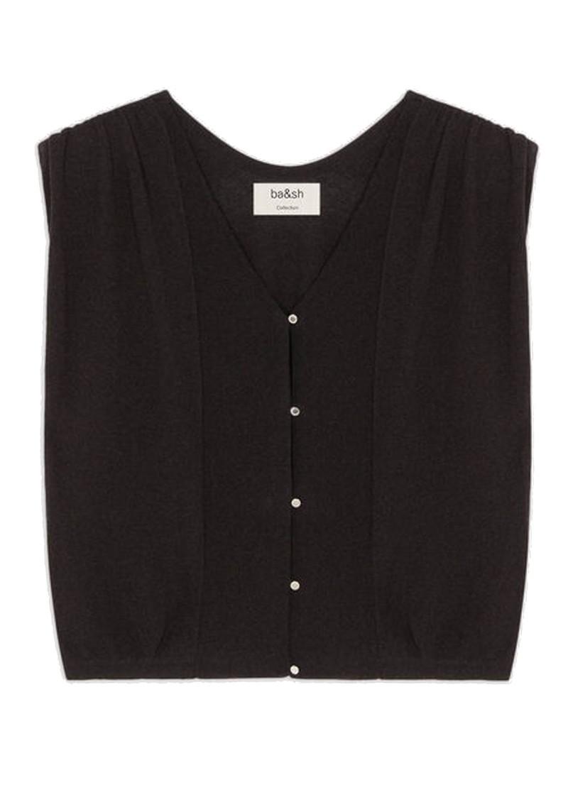 Ba&sh Lony Short Cardigan Top - Black main image