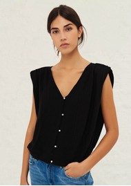 Ba&sh Lony Short Cardigan Top - Black