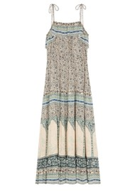 Ba&sh Teresa Printed Midi Dress - Vertdeau