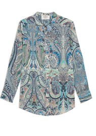 Ba&sh Blake Printed Shirt - Blue