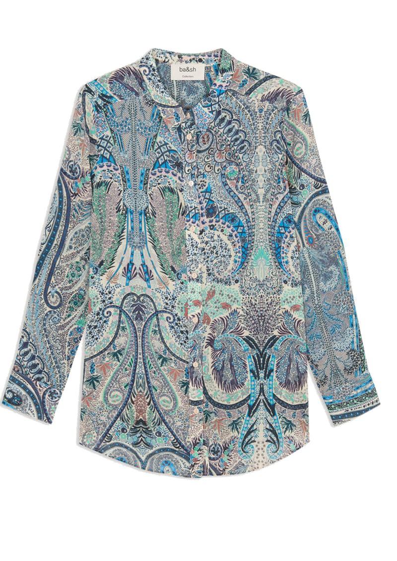 Ba&sh Blake Printed Shirt - Blue main image