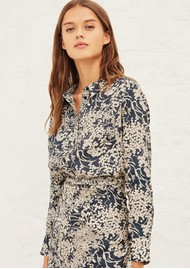 Ba&sh Mara Printed Shirt - Marine
