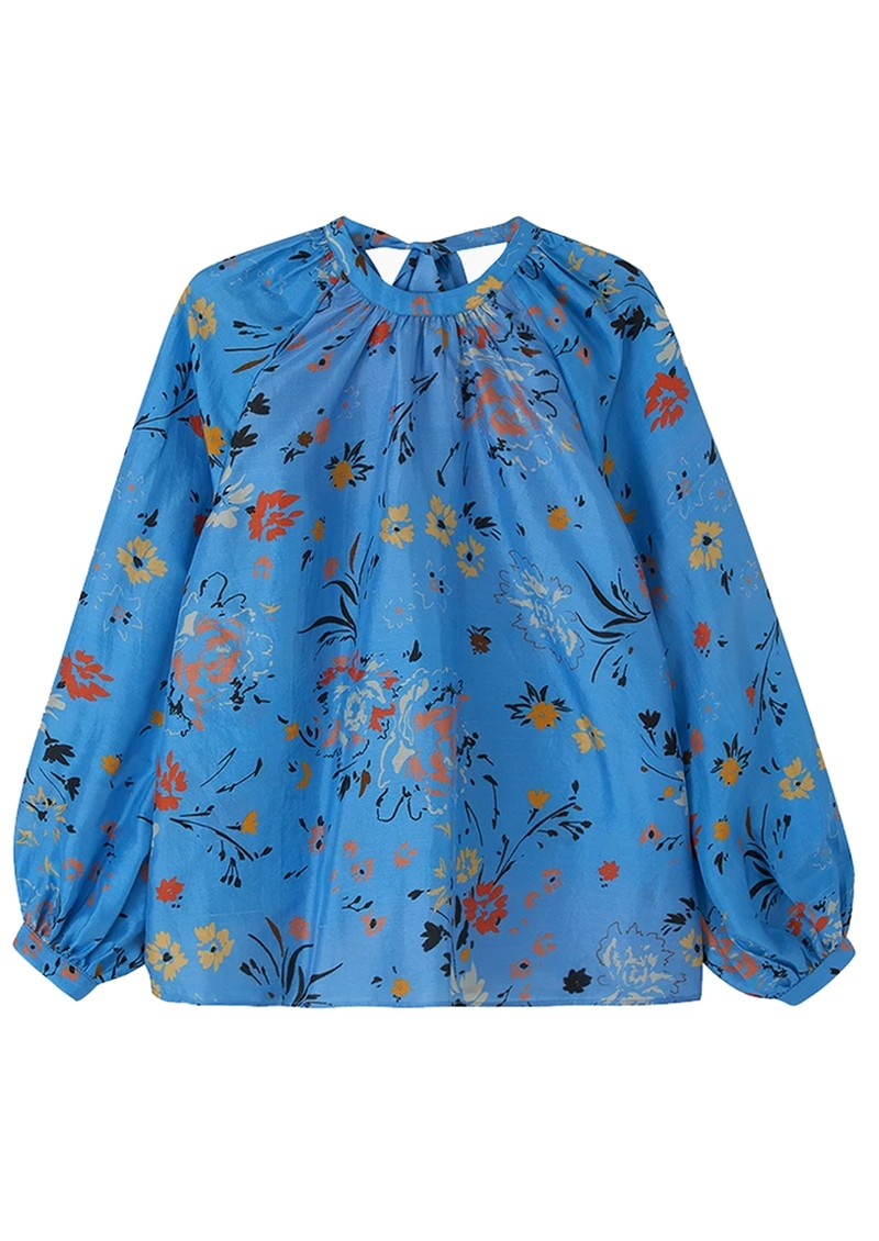 Lily and Lionel Helena Silk Blouse - Garden Topaz main image