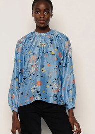 Lily and Lionel Helena Silk Blouse - Garden Topaz