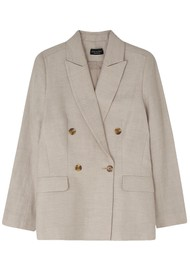 Lily and Lionel Juno Double Breasted Jacket - Sand