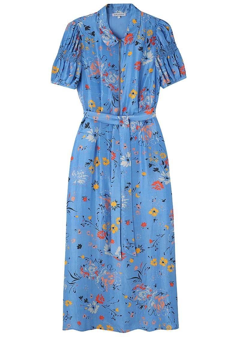 Lily and Lionel Amelia Silk Dress - Garden Topaz main image