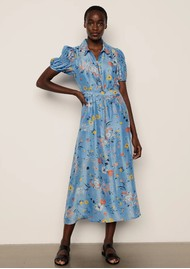 Lily and Lionel Amelia Silk Dress - Garden Topaz