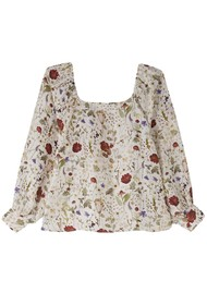 Lily and Lionel Gemma Silk Top - Floral Ivory