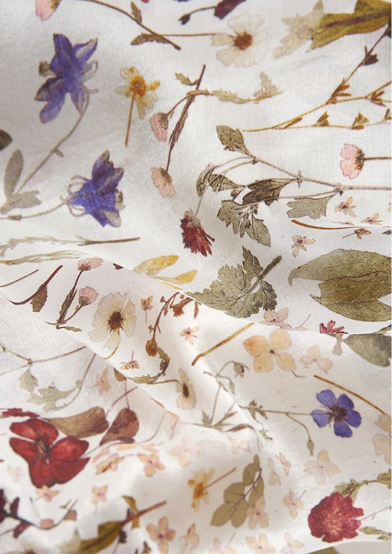 Lily and Lionel Gemma Silk Top - Floral Ivory  main image