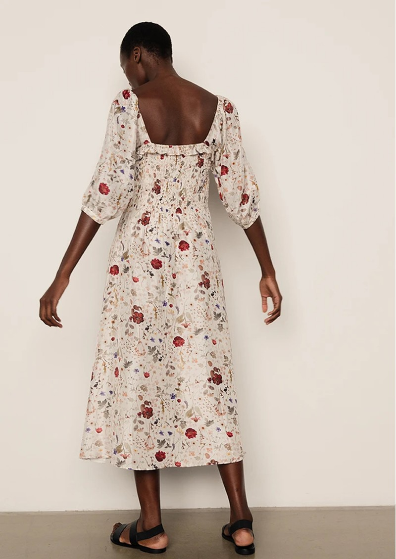 Lily and Lionel Matilda Silk Dress - Floral Ivory main image