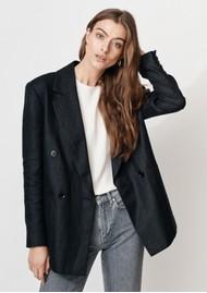 MAYLA Wilder Oversized Linen Blazer - Black