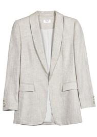 MAYLA Gray Linen Blazer - Salt